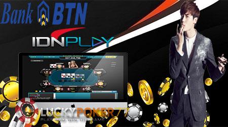 Pendaftaran Akun IdnPlay Online Gratis Menggunakan Bank BTN